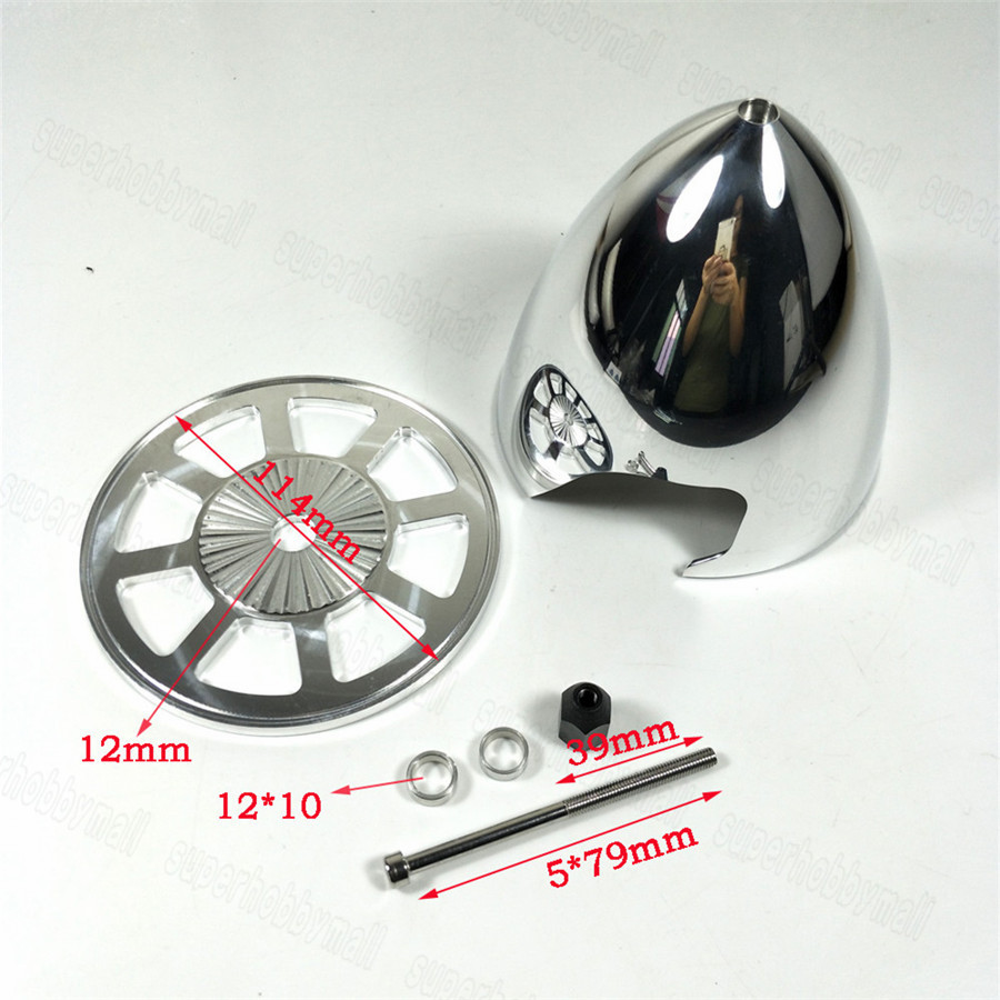 4.5 inch 4.5/114mm Special Drilled CNC RC Aluminum Spinner Standard Gasoline Airplane Spinners For 2 Blades Propeller