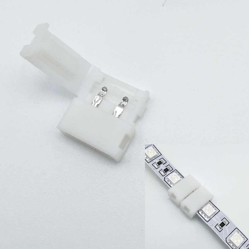 5050/3528 LED Strip Konektor 8/10/12 Mm/2/4/5pin Gratis CONNECTOR Las Kosong papan Non Tahan Air/Menjatuhkan Lem Tahan Air