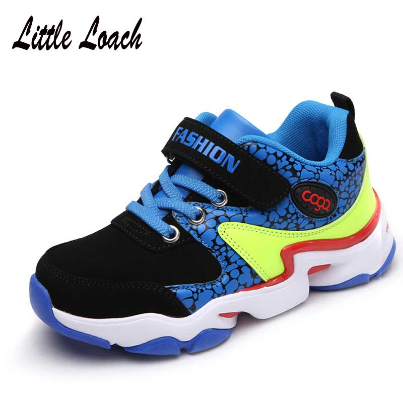Childrens Sports Shoes Spring Autumn Ultra-light Boys Basketball Shoes Nubuck Leather Walking Hiking Shoes School Sneakers