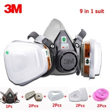 3M 6200 Half Face Mask 9 in 1 set 6001CN Filter Spray Paint Respirator Gas Work Safety Breath Dustproof Chemical