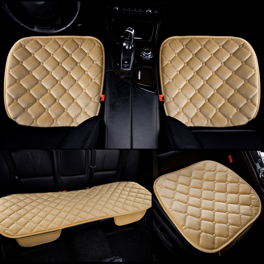 Dewtreetali Universal Velvet Car Seat Cushion Set Auto Car Seat Protector Seat Cover Winter for Car Accessories Car-styling dewtreetali universal automoblies seat cover four seaons car seat protector full set car accessories car styling for vw bmw audi
