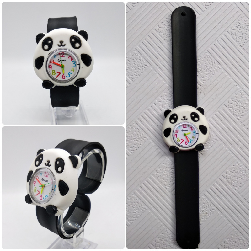 Silicone Slap Watch Children Cartoon Panda Quartz Watch 3 Colors Kids Boys Girls Christmas Gifts Baby Toys Digital Watches YAN