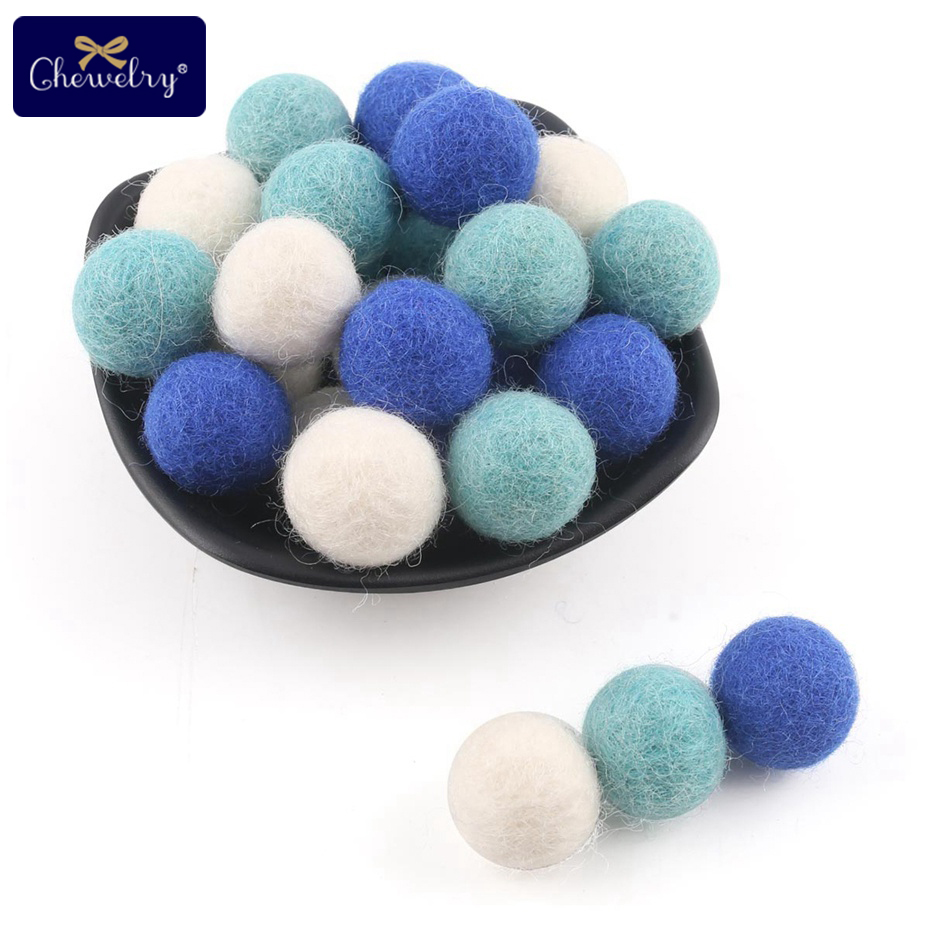 25pc Wool Balls Colorful Beads Christmas Gift DIY Crafts Baby Nursing Accseeories Decor Room Felt Wool Soft Making Baby Bed Toys