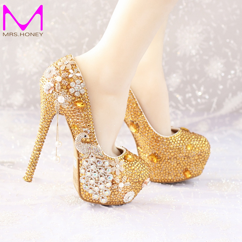 Online Get Cheap Gold Evening Heels -Aliexpress.com | Alibaba Group