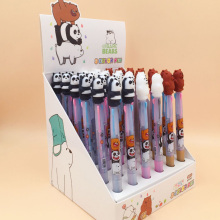1pcs/lot Lovely Cartoon Bear 3 Colors Ballpoint Pen School Office Writing Supplies Student Stationery