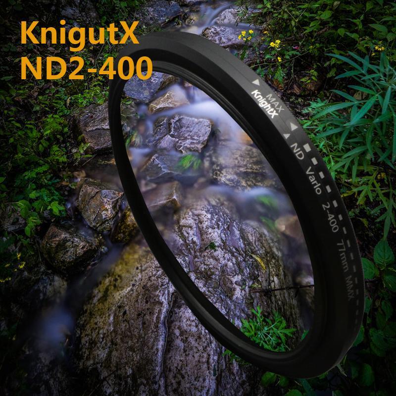 KnightX 52 58mm Densità Variabile ND2-400 Lente Filtro ND per nikon d5300 d3100 d5300 d5500 d7100 per canon eos 600d 1200d