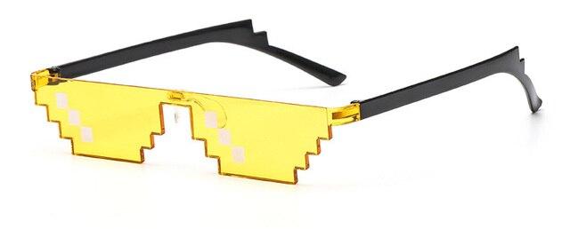 b5bd2f7087ad SHAUNA Wide Deal With It Sunglasses Funny Mosaic Thug Life Sun Glasses 8  Bit Pixel Sunglasses UV400