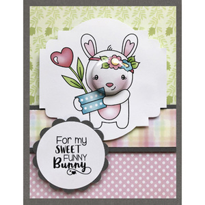 AZSG Lively rabbit Clear Stamps/Silicone Transparent Seals for DIY scrapbooking Card Making