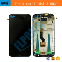 Original New For Alcatel Idol 3 6039 6039A 6039K 6039Y LCD Display With Touch Screen Digitizer