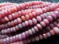 Free shipping (90 beads/strand) natural Myanmar red ruby 4-4.5*6.5-7mm faceted rondelle stone beads