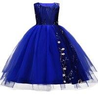 New Arrival Flower Embroidery Girls Dresses For Summer Kids Party Wedding Flower Girl Dress Children Fairy
