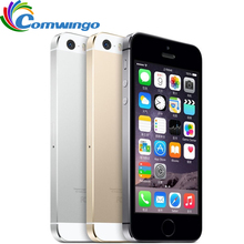 Unlocked Apple iPhone 5 S 16 GB/32 GB/64 GB ROM IOS telefoon Wit Zwart Goud GPS GPRS A7 IPS LTE Mobiele telefoon Iphone5s(China)