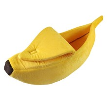Pet Supplies Sleeping Bag for Autumn and Winter Washable Banana Cage for Dogs and Cats Puppy Kitty House Cute Banana Shape Nest