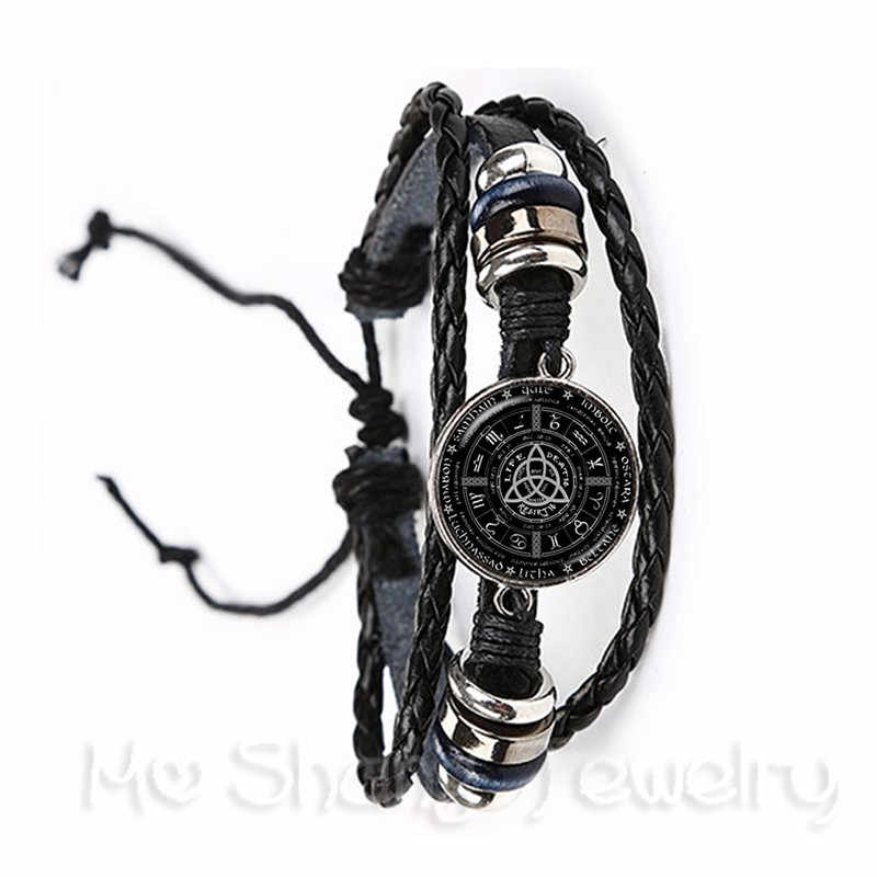 Celtics Logo Charm Bracelet Handmade Jewelry Talisman And Treatment Of Injury FIT Religion Belief Souvenir Black/Brown Leather