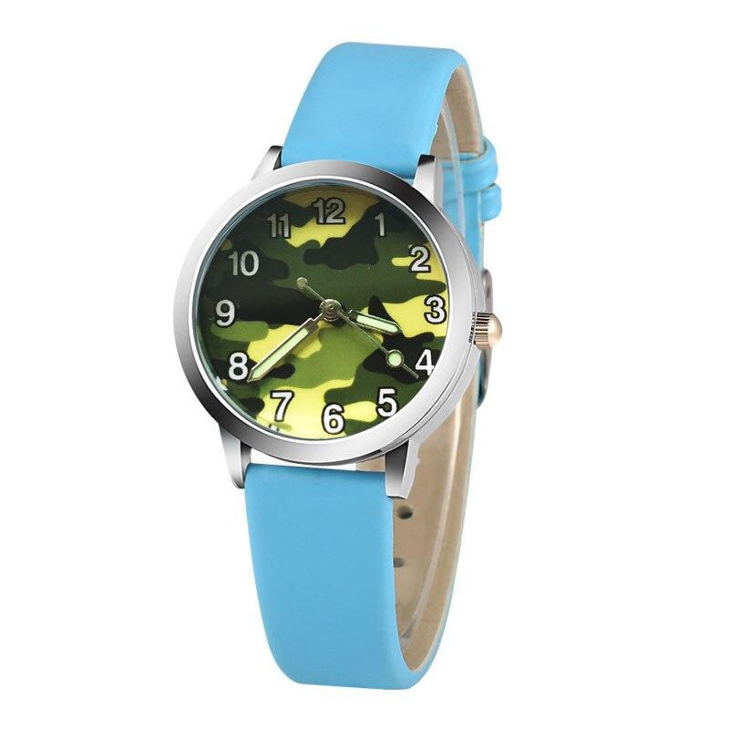 6 Colors Classic Digital Girl Boy Ladies Watch Child Quartz Watch Fashion Camouflage Print Children's Watch Clock  Kids Watches