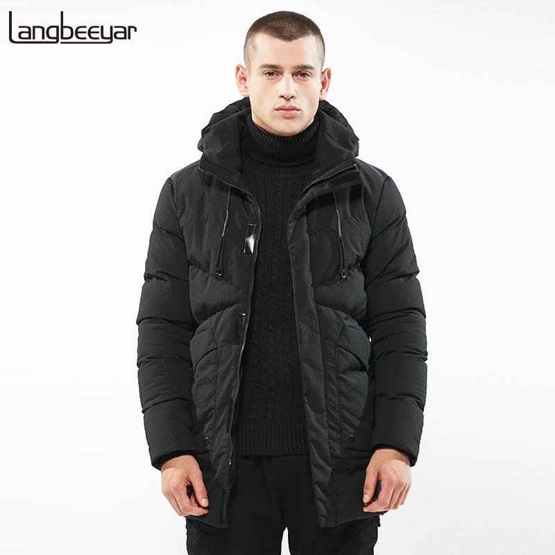 New Fashion Brand Clothing Parka Men Hooded Thick Mens Winter Jackets Trend Youth Slim Fit Mens Jackets And Coats Winter