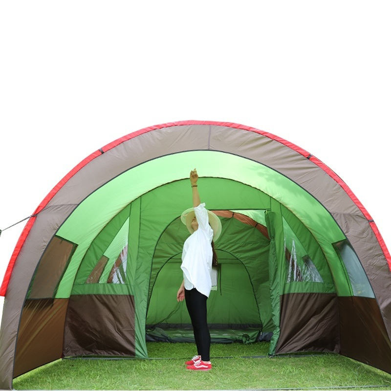 6 10 person large family tent c&ing tent sun shelter gazebo beach tent tunnel tent for Advertising/exhibition-in Tents from Sports u0026 Entertainment on ...  sc 1 st  AliExpress.com & 6 10 person large family tent camping tent sun shelter gazebo ...