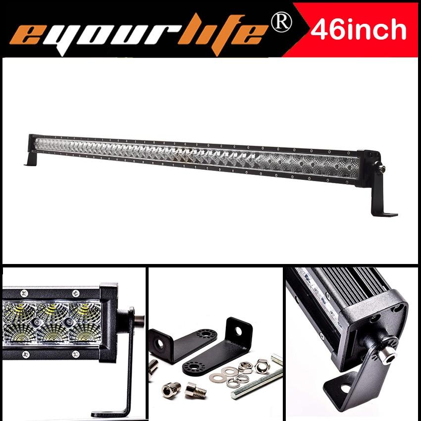 Eyourlife 44 46INCH 240W LED font b LIGHT b font BAR WORK DRIVING LAMP SPOT FLOOD