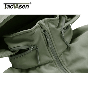 Image 3 - TACVASEN Winter Military Fleece Jacke Herren Soft shell Jacke Taktische Wasserdichte Armee Jacken Mantel Airsoft Kleidung Windjacke