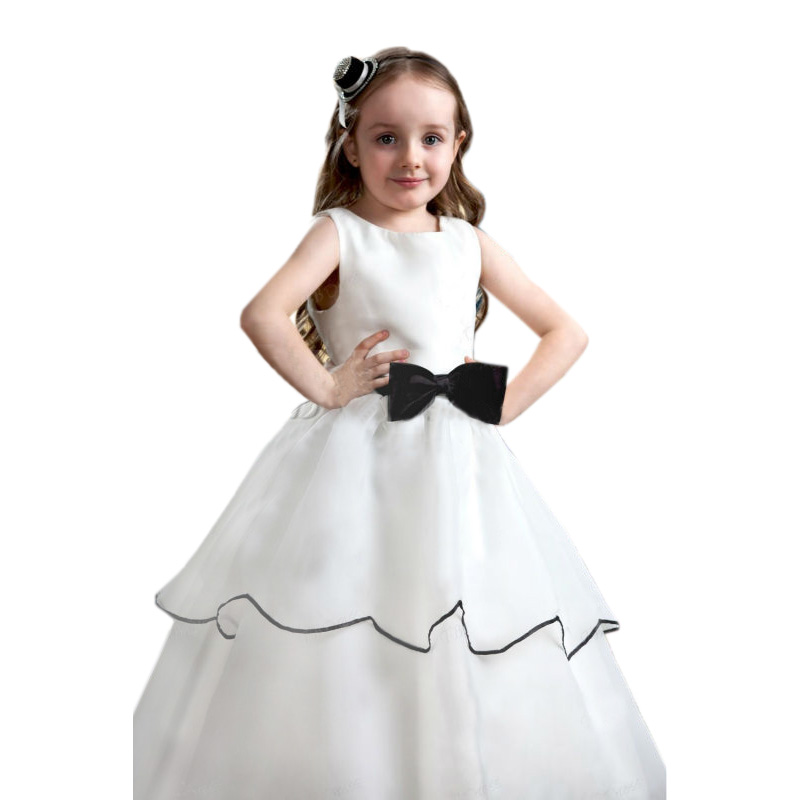 Flower Girls Dresses For Wedding Mermaid Girl Birthday Party Dress White Pageant Dresses for Girls Mother Daughter Dresses 2016 free shipping flower girls dresses for wedding tulle girl birthday party dress white pageant dresses for little girls