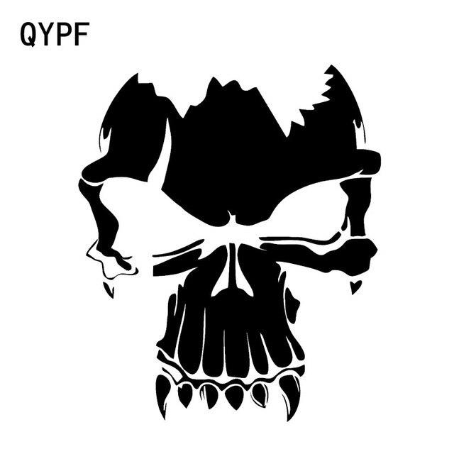 QYPF 14,9*12,6 cm calcomanías encantadoras del cráneo del coche decoración vinilo parachoques ventana Gráfico C16-0201