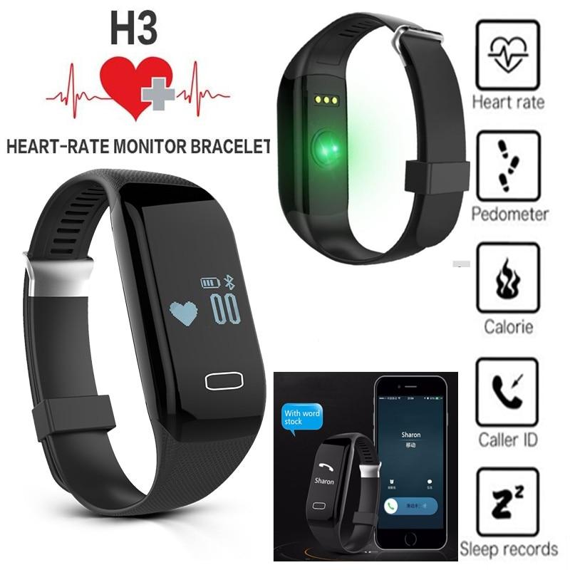 Fashion Heart Rate Smartband H3 Waterproof Fitness Sleep Tracker Passometer IOS Android Smart Watch & Miband Sport Bracelet