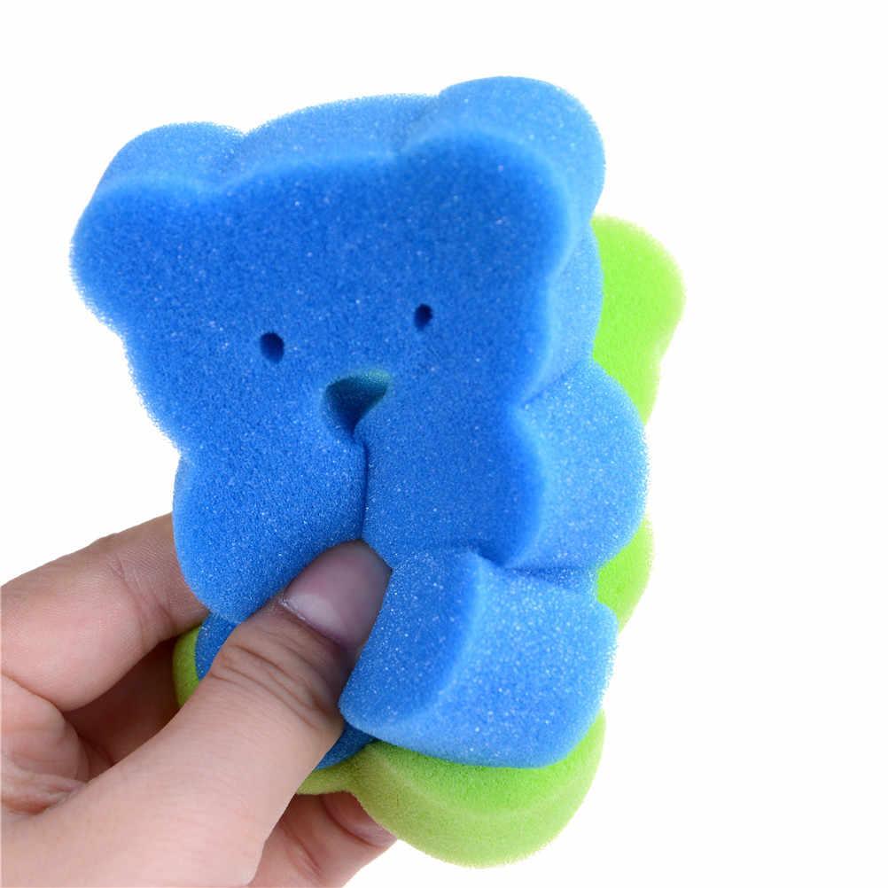 1 個のバスタオルベビー幼児シャワー蛇口洗浄幼児用バスブラシスポンジこする綿こすりボディアクセサリー