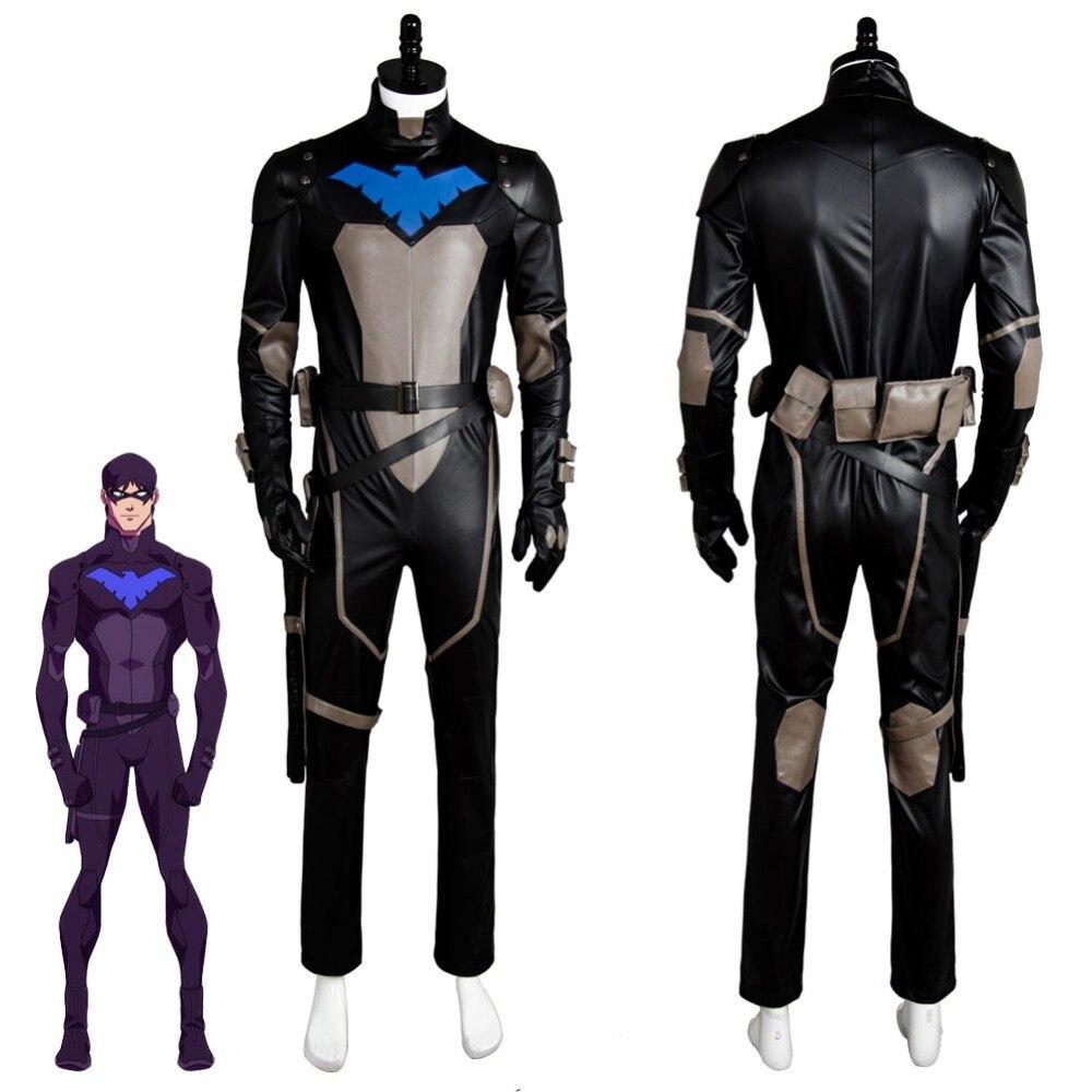 Jeune Justice S2 Nightwing Robin Cosplay Costume combinaison Costume tenue uniforme masque ensemble pour Halloween carnaval fête
