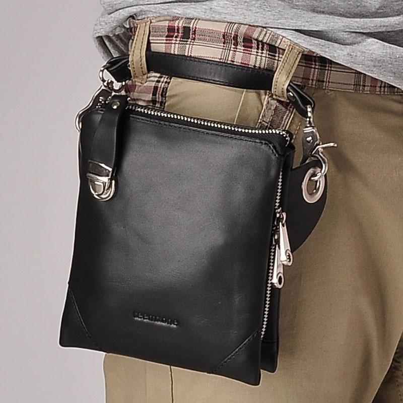 Aliexpress.com : Buy Fashion Men Waist Pack 100% Genuine Leather ...