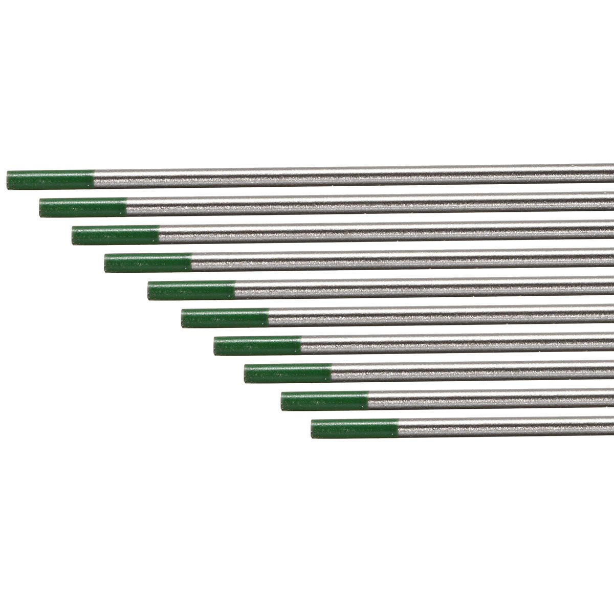 Best Price 10PCS/set 2.4*175mm WP Green Welding Tungsten Electrode Welding Electrodes high electron escape work for AC welding