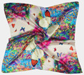 SILK SQUARE SCARF 11/90cm*90cm 100% Pure Silk Charmeuse Scarf/2015 New Desigual Autumn&Winter Style Butterfly