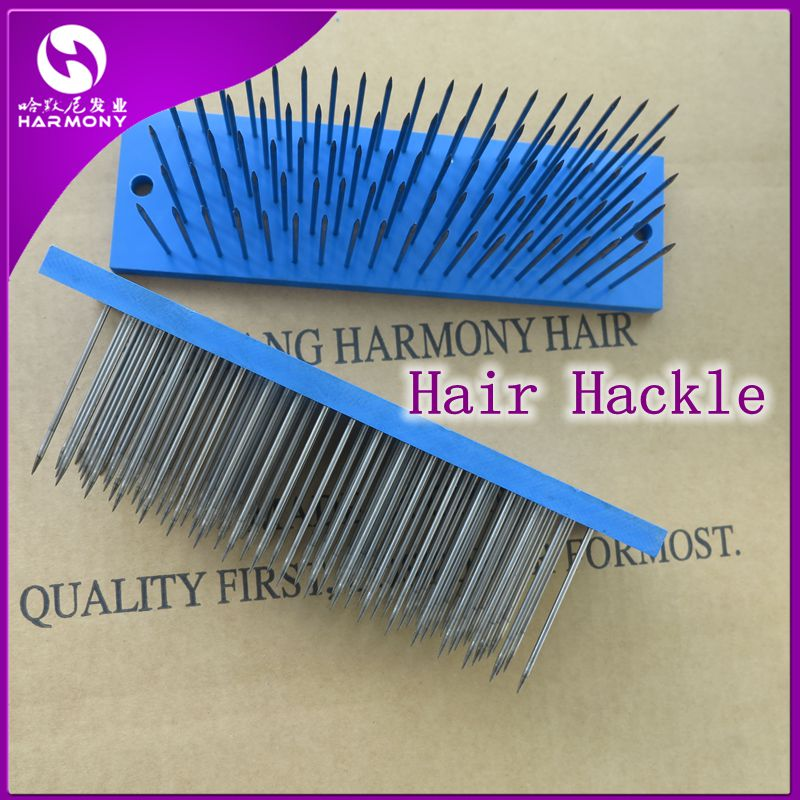 ( 2 pieces/set ) HARMONY Hair Extension Tools Blue South Korea Stainless Steel Needles Hair Hackle for Hair Factory Comb Hair