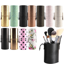 Podróż Makeup Brush Pen Storage Holder Kosmetyczny Faux Leather Case Box Container Make Up