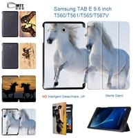 MTT Akhal Teke Horse Print Tablet Case For Samsung Galaxy Tab E T560 T561 T565 T567V