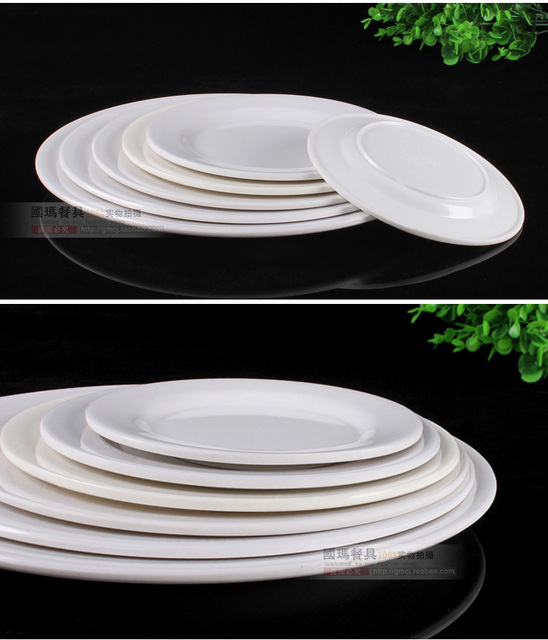Wholesale Cooking tools Tableware 12inch Dishes Melamine Plastic plates For Fast food Canteen Restaurant 10pcs/ & Wholesale Cooking tools Tableware 12inch Dishes Melamine Plastic ...