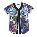 New Arrive Summer Fashion 3D Anime Saint Seiya Legend of Sanctuary Print Baseball T shirt Streetwear Camiseta Hip Hop T Shirt
