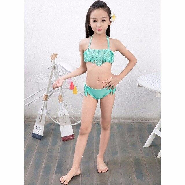 Papa Chen mädchen bademode bikini kind kinder heißen bohrer zwei ...