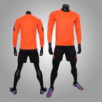 2017 New Football Jerseys Kits Men Blank Soccer Jerseys Set Quick Dry Kids Football Training Jerseys