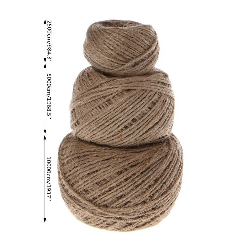 1 Roll Jute String Hemp Rope For Bracelet Necklace DIY Craft Decor 25/50/100m
