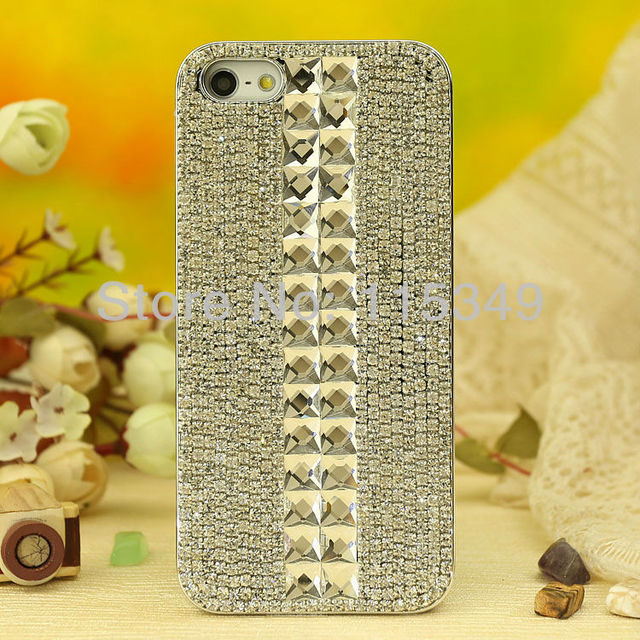 2013 Free shipping Rhinestone iPhone Case for iPhone 5 5G iphone 4 4s- Way To The Sky, DIY Handmade Crystal