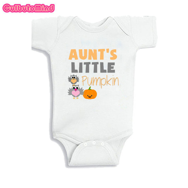 860a894df CulbutomindNew born Baby Clothes 2018 Unisex SummerBoyGirl Baby Bodysuit  Long Sleeve Short Sleeve Aunt's little Pumpkin