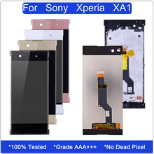 Display for Sony Xperia XA1 LCD Touch Screen Digitizer Assembly for Xperia XA1 G3112 G3121 G3116 G3123 G3125 Screen With Frame смартфон sony g3112 xperia xa1 black графитовый черный