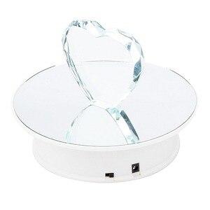 Image 1 - 보석 장난감 모델, 시계 디스플레이 스탠드에 대 한 20 cm 세련 된 미러 표면 전기 동력 된 회전 디스플레이 턴테이블