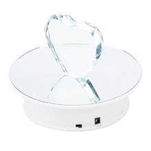 20 CM Superficie Del Espejo de Mesa Giratoria Pantalla Motorizada Eléctrica para joyería Juguetes, relojes pantalla del teléfono móvil