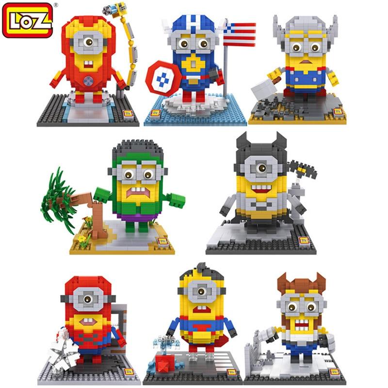 LOZ Superman Hero Series Diamond Building Blocks  DIY Superman Action Figures Assembling DIY Educational Toys For Boys Adults настенные часы салют п 2а7 457 яблоки
