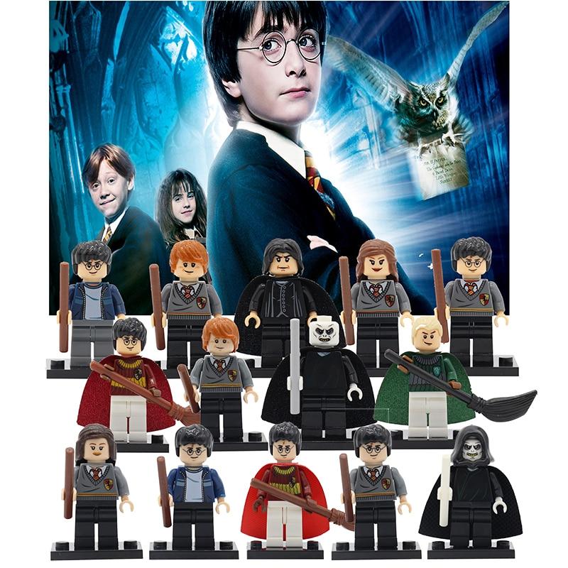 Harry Potter Figures Hermione Ginny Ron Weasley Lord Voldemort Draco Malfoy Luna Snape Building Blocks Toys for Children building blocks harry potter ron weasley professor sprout malfoy argus filch diy figures super hero bricks kids diy toys hobbies
