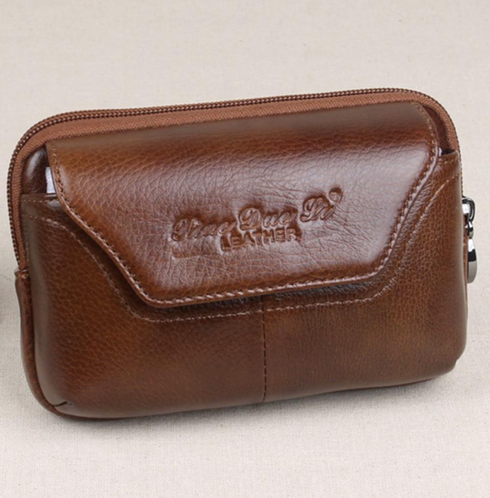 Mäns äkta läderhalsbandspälsväska Plånböcker Bältehöft Bum - Bälten väskor - Foto 4