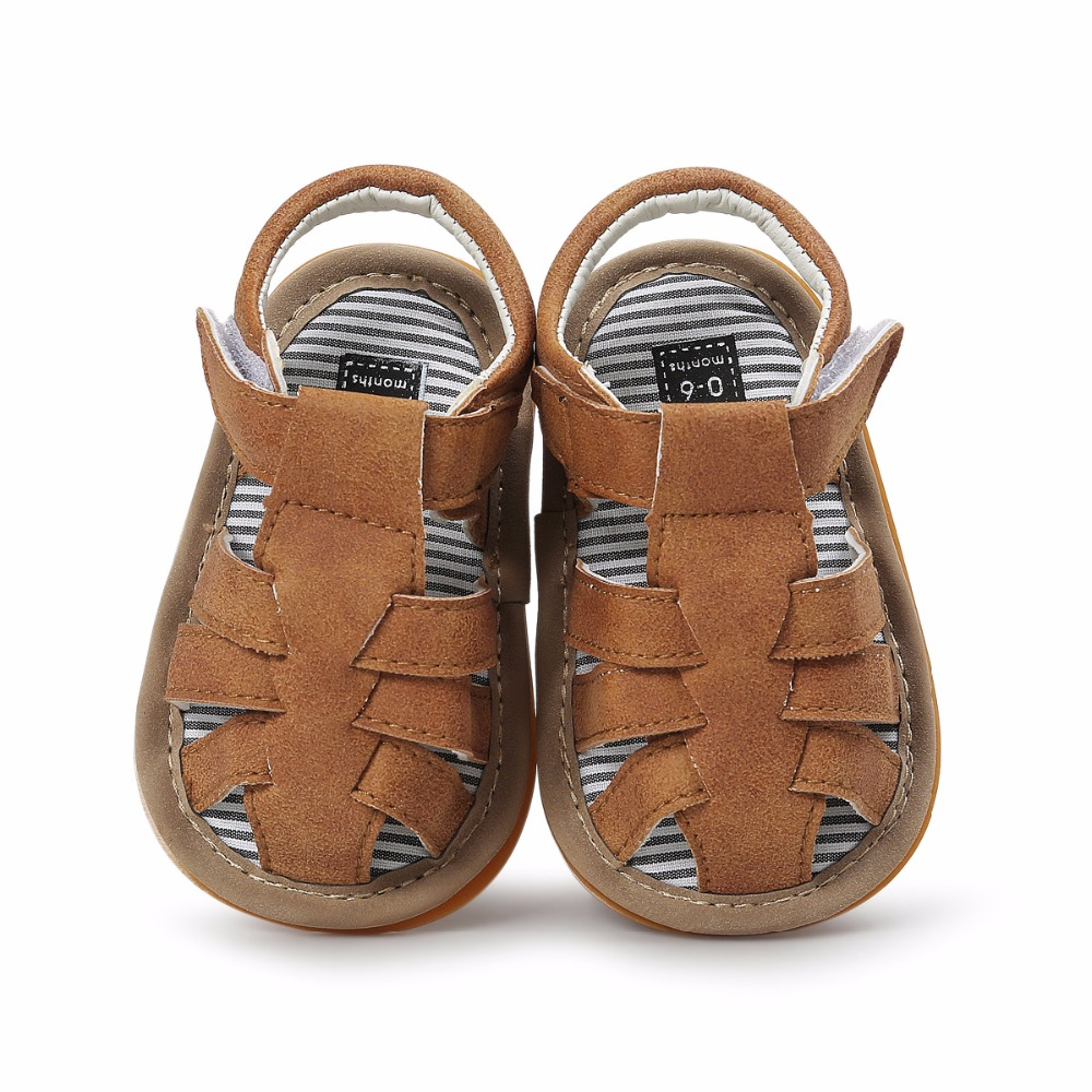 Brown Color Summer Autumn Newborn Baby Boy Sandals Clogs Shoes Casual Breathable Hollow For Kids Children Toddler
