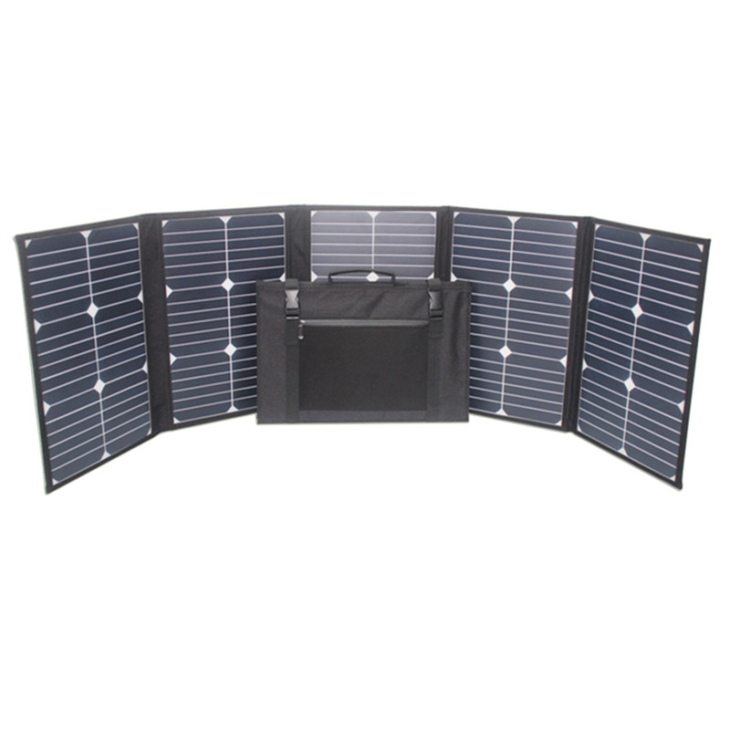 make in China convenient outdoor solar charging pack 100W portable solar power bank.