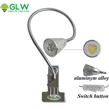 GLW 3*3W 5W 4W 3W LED Table lamp for reading Desk Light 110V 220V Bedroom Bedside Aluminum 360 Degree Adjustable flexible Clip